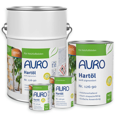 AURO Hard oil, white - No 126-90