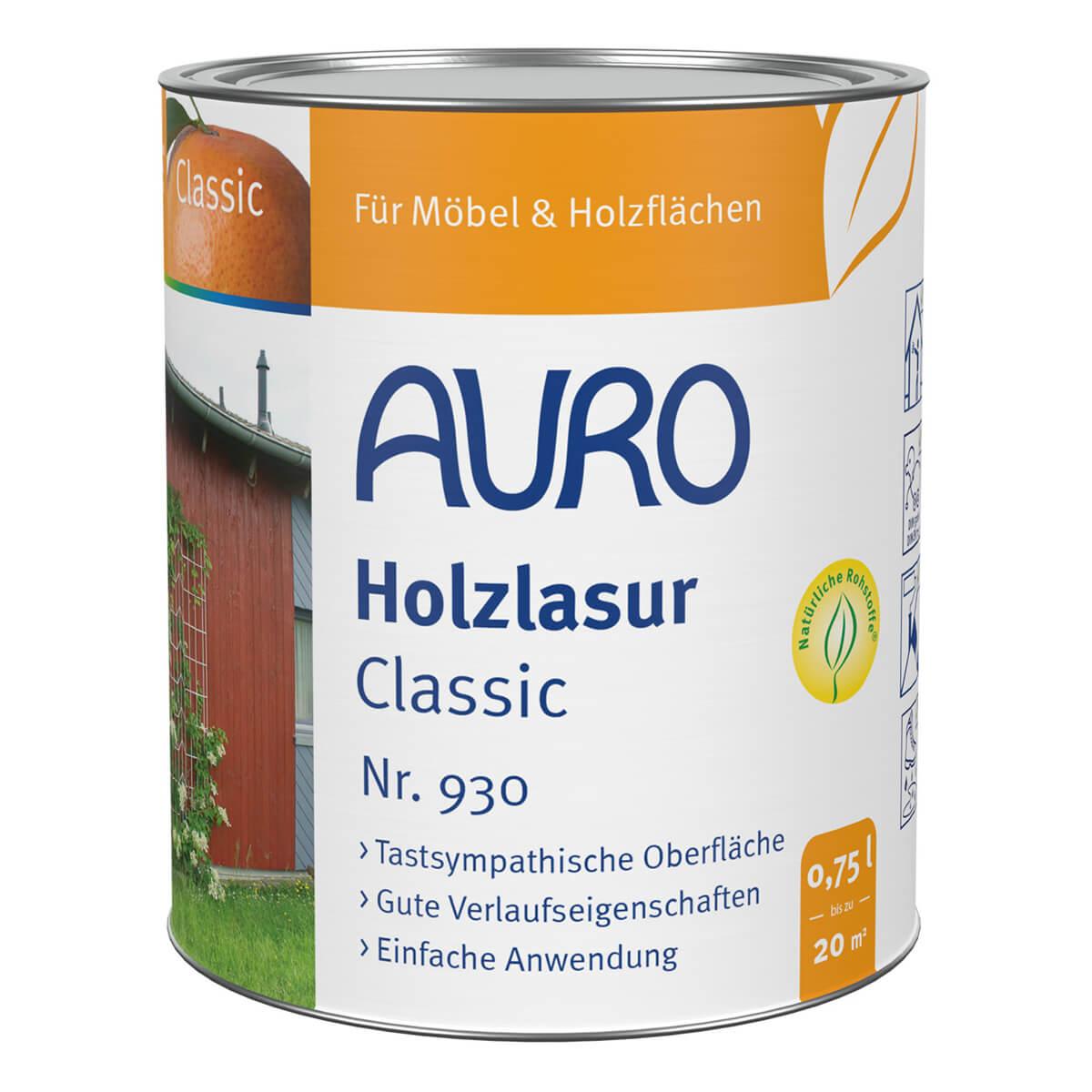 auro holzlasur classic nr 930 seidengl nzende lasur. Black Bedroom Furniture Sets. Home Design Ideas